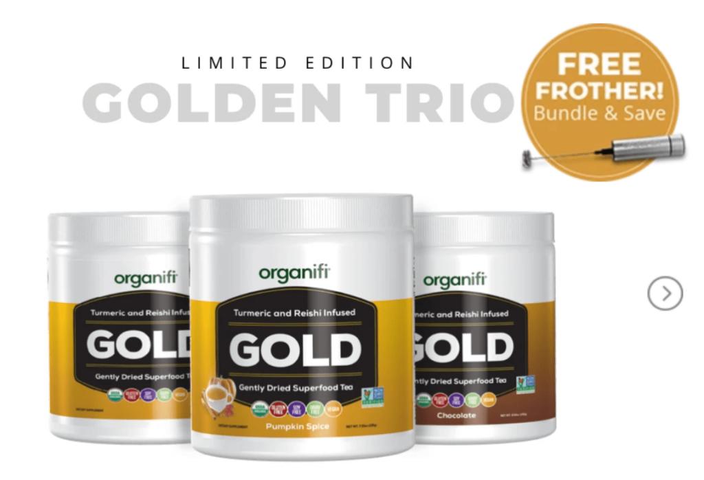 Organifi Golden Trio