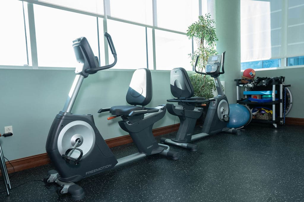 Exercise Bike in Physical Therapy room